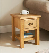 Solid Luxury Wiltshire Oak Lamp Tea Coffee Telephone Side Table With Drawer