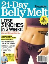 NEW! Prevention 21-DAY BELLY MELT Fitness Plan Diet Shopping List Recipes Abs