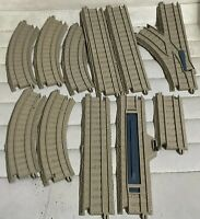 11 Thomas Friends Trackmaster Curved Straight Tan Brown Train Track Lot