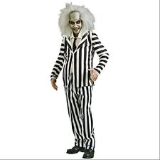 Mens Official Beetlejuice Rubies Halloween Costume Jacket Pants Dickie Med.
