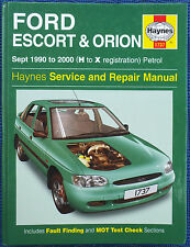 Ford Escort & Orion Haynes Workshop Manual, 1990 to 2000.