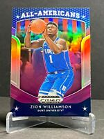 ZION WILLIAMSON 2019-20 PANINI PRIZM DRAFT PICKS ALL AMERICANS PURPLE PRIZM RC