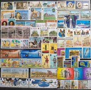 Worldwide Stamp Lots: UK Channel Islands MNH -25 Different Full Sets Europa CEPT