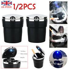 2x Auto-Aschenbecher mit LED Kfz-Windaschenbecher mit Deckel & Gluttöter & Licht