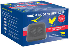 Electronic Ultrasonic Garden Bird Rodent Pest Deterrent Repeller - PEST CLEAR