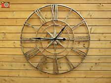 METAL WALL CLOCK. Extra Large. Distressed Antique Gold Finish. Very Stylish