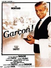 Affiche Pliée 40x60cm GARCON (1983) Claude Sautet - Yves Montand, Villeret TBE
