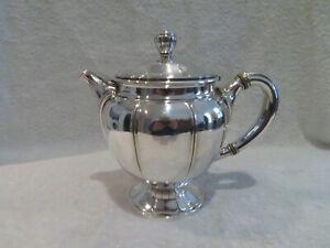 Elegant early 20th c french silver-plated tea pot Gallia art deco st ety