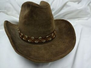 BOOT HILL  Cowboy Hat, Stetson style, Size S 6 1/2- 6 5/8, cotton/rayon. NEW!