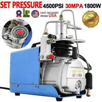 30MPA 4500PSI High Pressure Air Pump Adjustable Auto-Stop PCP Compressor Pump US