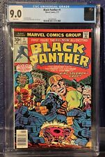 Black Panther 1 - 1st Solo Title 1977 - CGC 9.0 - White Pages Marvel MCU Key