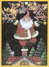 BELIEVE SANTA CLAUS CHIMNEY-Handcrafted Christmas Magnet-W/Mary Engelbreit art