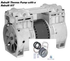 "Thomas Vacuum Veneer PUMP Vacuum / Compressor 3+CFM 24""hg Aerator w/ Rebuild Kit"