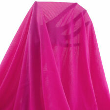 Neon Fuchsia Extra Wide Stretch Power Mesh Fabric