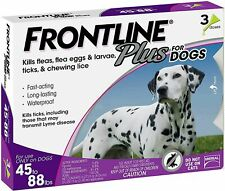 FRONTLINE Plus Flea & Tick Treatment for Large Dogs 45-88 Pounds 3 / 6 / 8 Doses