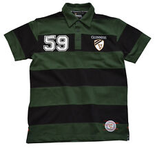 More details for guinness black / green striped 59 polo shirt (s-xxl)