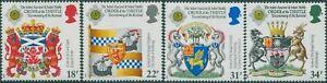 MINT 1987 GB SCOTTISH HERALDRY ORDER OF THISTLE STAMP SET OF 4 MUH