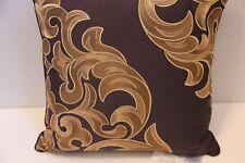 Croscill ATHENA Purple Gold Square Deco Pillow NWT