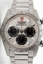 RARE 42mm FASTRIDER Tudor 42000 SS Chronograph Mens Automatic Watch