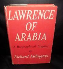 LAWRENCE OF ARABIA - A Biographical Enquiry by Richard Aldington - 1955 HD/DJ