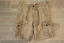 Abercrombie & Fitch Mens 28 Cargo Shorts Light Tan Beige Pockets 100% Cotton