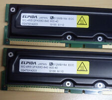 100% NEW ELPIDA 512MB DIMM 184 broches RDRAM 800 MHz ECC MC-4R512FKE8D-840