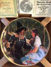 "Wizard of Oz Hamilton Plate Collection ""Dorothy Meets the Scarecrow"" with Coa"