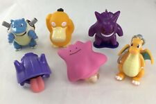 Lot of 6 Vintage 1999 Nintendo Burger King Pokemon Toys - Dragonite Blastoise +