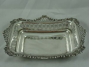 LARGE, VICTORIAN sterling silver SWEET DISH, 1895, 128gm