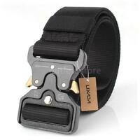 Men Military Belt Buckle Combat Adjustable Waistband Tactical Waist Strap H5P4