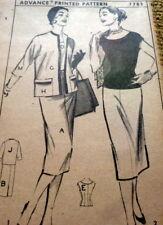 LOVELY VTG 1950s DRESS & JACKET ADVANCE Sewing Pattern 13/33 FF