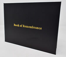 Black Snakeskin Effect Book Of Remembrance Funeral Guest Condolences Memorial
