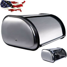 Stainless Steel Bread Box Storage Bin Keeper Food Container Kitchen Tools New