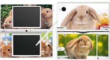 NINTENDO NDSI DSI ORIGINALE-Carino Bunny Coniglio 4 pezzi-ADESIVO SKIN UK
