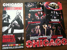 Chicago  ad/flyer Broadway musical   NYC Christie Brinkley theatre