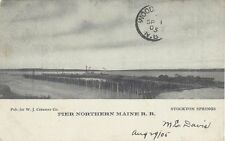 1905 Postcard - PIER - Northern Maine Railroad - Stockton Springs Maine