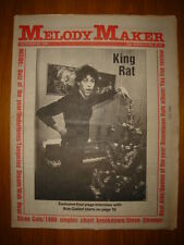 MELODY MAKER 1980 DEC 27 BOOMTOWN RATS STRAY CATS YES