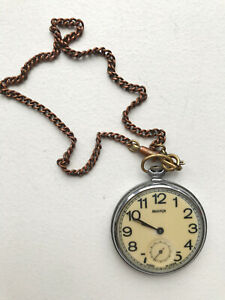 Vintage Russian Pocket watch Molnija on a chain