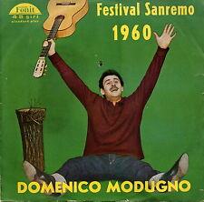 DOMENICO MODUGNO LIBERO PIU' SOLA FESTIVAL SANREMO 1960 EX- M-