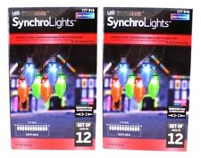 2 Boxes Gemmy Synchro Lightshow Color Changing C9 LED Lights 12 Count #177 916