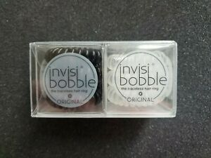 6 Pack Invisibobble Original QTY 3 Crystal Clear & QTY 3 True Black - NEW IN BOX
