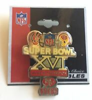 San Francisco 49ers Super Bowl XVI Peter David Pin Cincinnati Bengals  L3