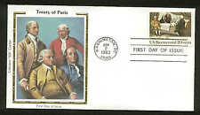 "U.S. FDC #2052 Colorano ""Silk"" Cachet Washington, DC Treaty of Paris"