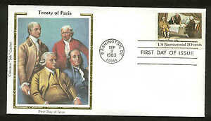 "U.S. FDC #2052 Colorano ""Silk"" Cachet Washington, DC Treaty of Paris"