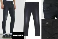 DIESEL Men's STICKKER Super Slim-Skinny Jeans 0684J STRETCH, Men's Black Denim