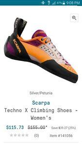 Scarpa climbing shoes women's
