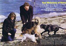 COUPURE DE PRESSE CLIPPING 2007 PAUL MAC CARTNEY & NANCY (4 pages)