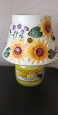 Yankee Small Sunflower Ladybug Shade & Candle Rare
