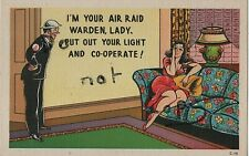 WW2 Saucy Military Comic Home Front ARP Air Raid Precautions