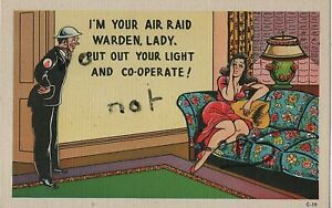 WW2 Saucy Military Comic Home Front ARP Air Raid Precautions
